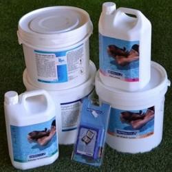 Kit Mix di prodotti per trattamento acqua piscina da 30 a 55 m³