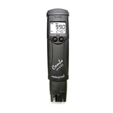 Misuratore Tascabile Combo per pH, EC, TDS, Temperatura acqua piscina