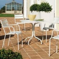 Tavolo da giardino Twist Vermobil bianco