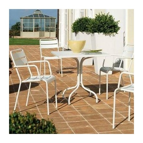 Tavoli Da Giardino Immagini.Tavolo Da Giardino Twist Vermobil Bianco