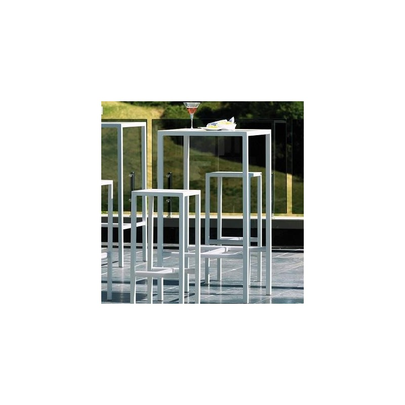 Set Tavolo alto da giardino + 4 sgabelli Seaside Vermobil Bianco ...