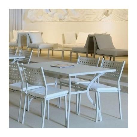 2 Sedie da giardino Vermobil Alice Bianco Raggrinzato