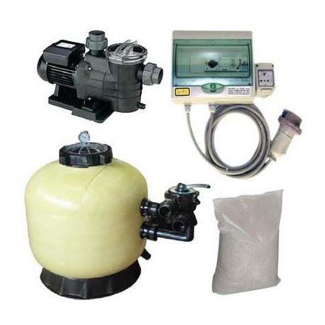 Kit Filtrazione piscina 1 - 10 m³/h Trifase