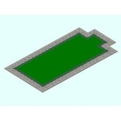 Copertura piscina occhielli Rett. con scala 210 gr