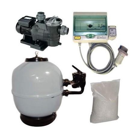 Kit Filtrazione piscina 3 - 12 m³/h Trifase