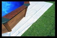 Piscina fuori terra in legno Tropica Wood 505 Tappetino in feltro
