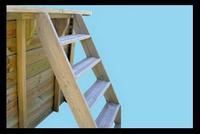 Piscina fuori terra in legno Tropica Wood 505 Scaletta in legno esterna