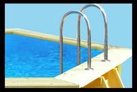 piscine fuori terra in legno scaletta interna in acciaio inox