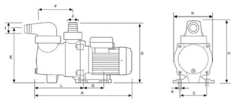 Pompe per piscina breton 250s monofase con prefiltro dimensioni
