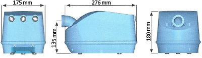 Soffiante per idromassaggio Blower dimensioni