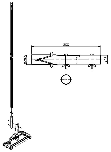 adattatore manico asta telescopica per piscine misure