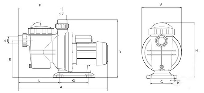 Pompe per piscina breton 370s con prefiltro dimensioni