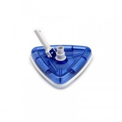 Scopa aspiratrice triangolare trasparente per piscina