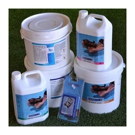Kit Mix di prodotti per trattamento acqua piscina da 50 a 100 m³