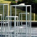 Set Tavolo alto da giardino + 4 sgabelli Seaside Vermobil Bianco raggrinzato