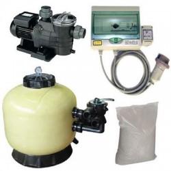 Kit Filtrazione piscina 1 MEDITERRANEO 10 m³/h Trifase