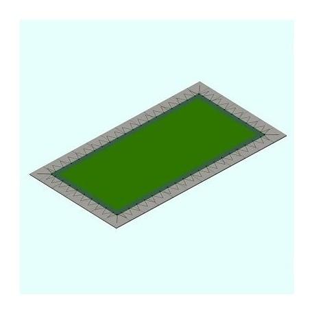 Copertura piscina PVC Rett. Occhielli