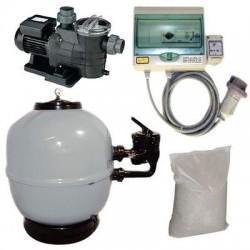 Kit Filtrazione piscina 1 RIVALTA 10 m³/h Trifase