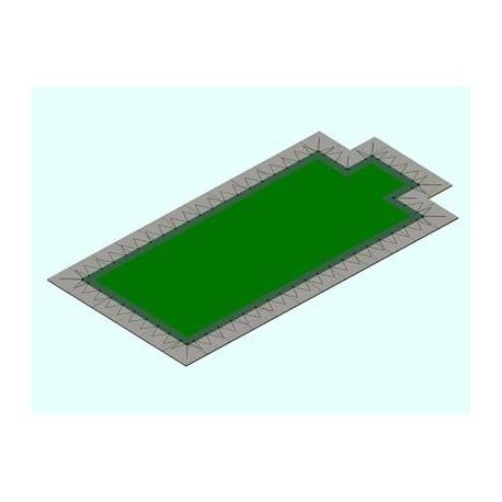 Copertura piscina a Rete Eltex rett. con scala c/Occhielli